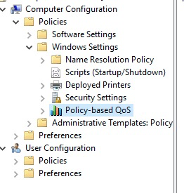 QoS for AWS WorkSpaces Client